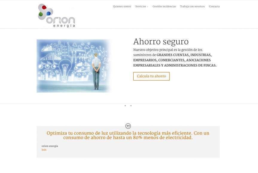 Web Orión Energía