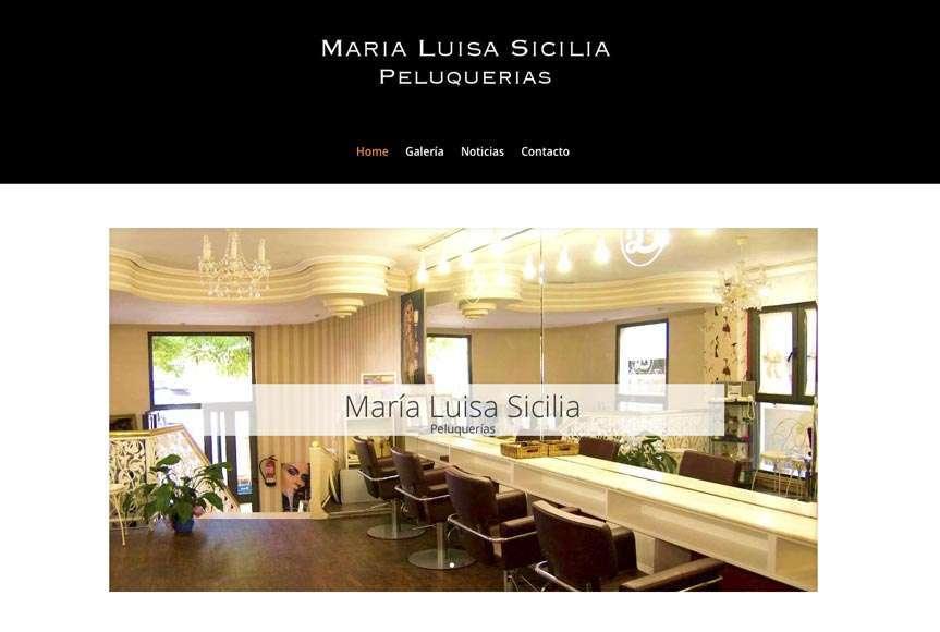 Web Peluquerias Mª Luisa Sicilia