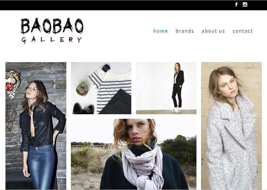 Ejemplo diseño web para BaoBao Gallery
