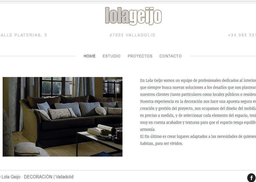 Ejemplo diseño web para Lola Geijo