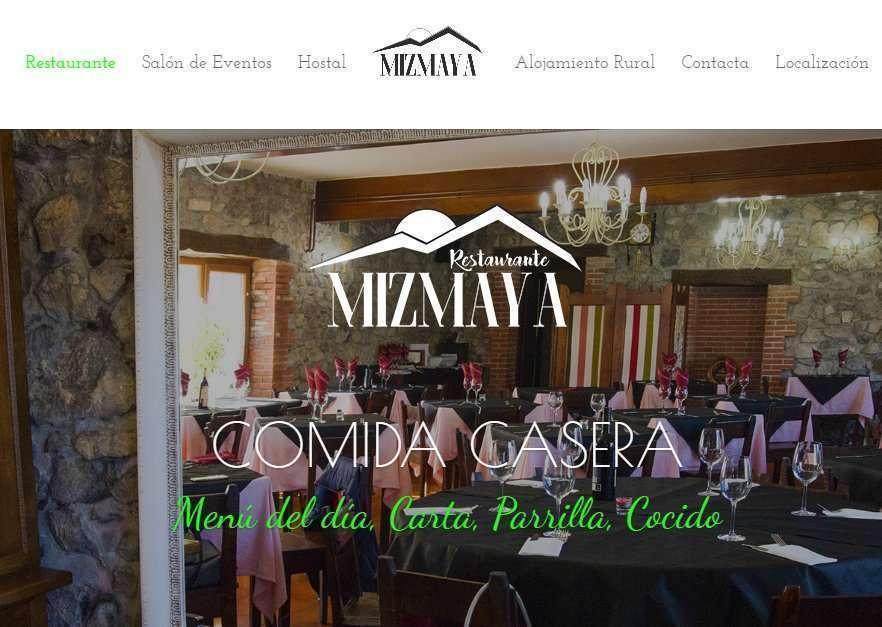 Ejemplo diseño web para Hostal Mizmaya