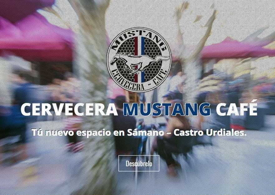 Ejemplo diseño web para Cervecera Mustang