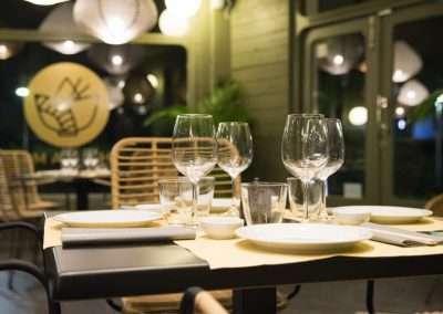 Fotografía decoración mesa restaurante