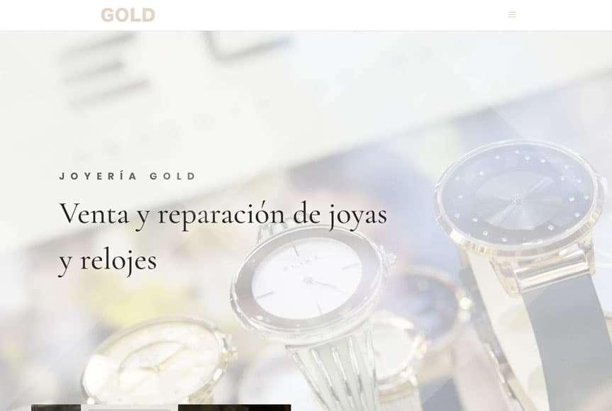 Web Joyería Gold, Castro Urdiales