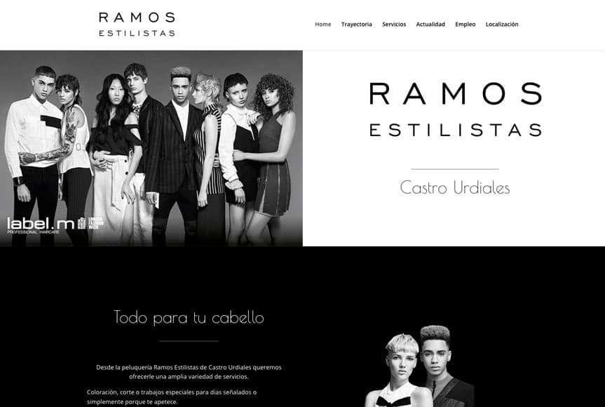 Web Ramos Estilistas Castro Urdiales