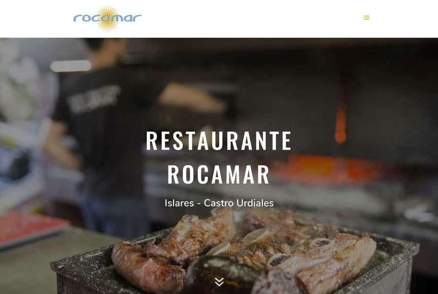 Web Restaurante Rocamar de Islares