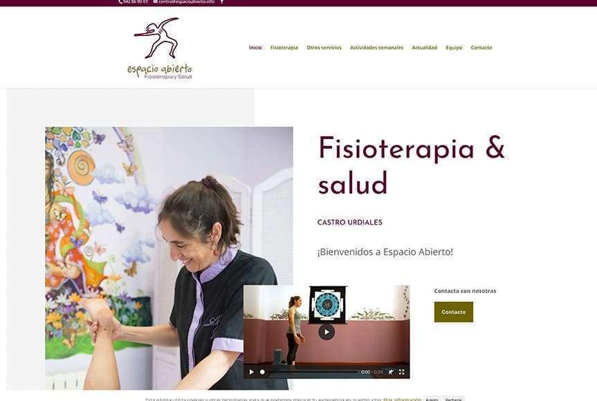 Web Espacio Abierto, fisioterapia