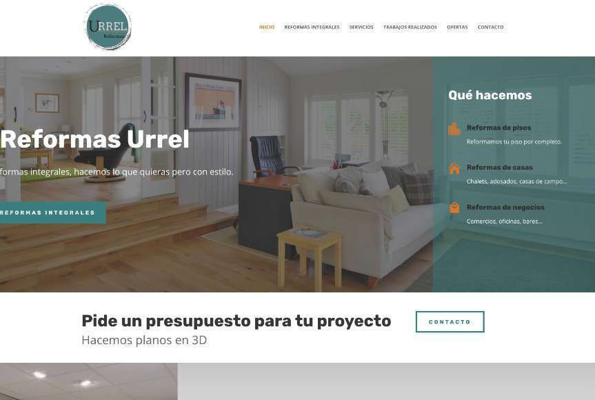 Web de Reformas Urrel en Castro Urdiales y Bilbao