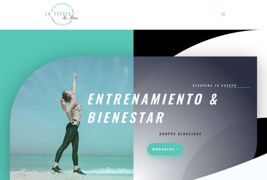 Web En cuerpo & Alma, entrenamiento y bienestar físico