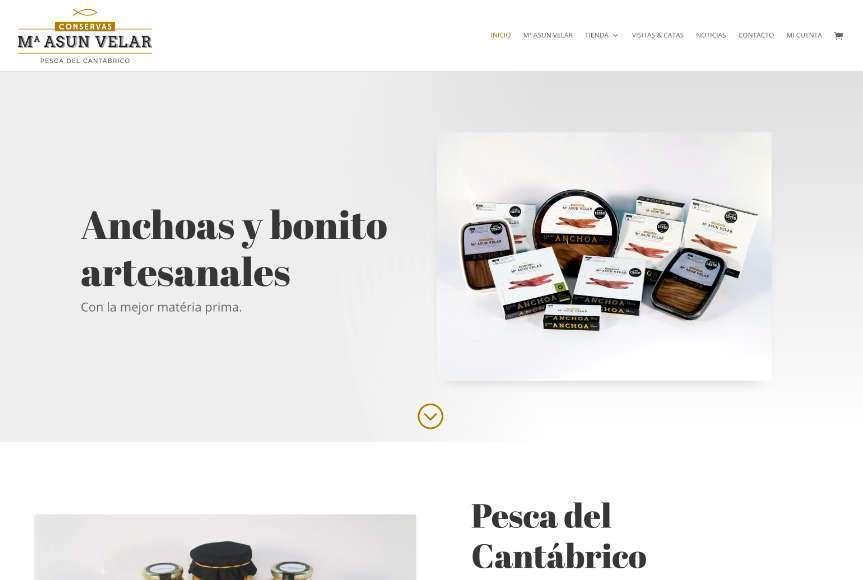 Web Tienda Online Conservas Mª Asun Velar