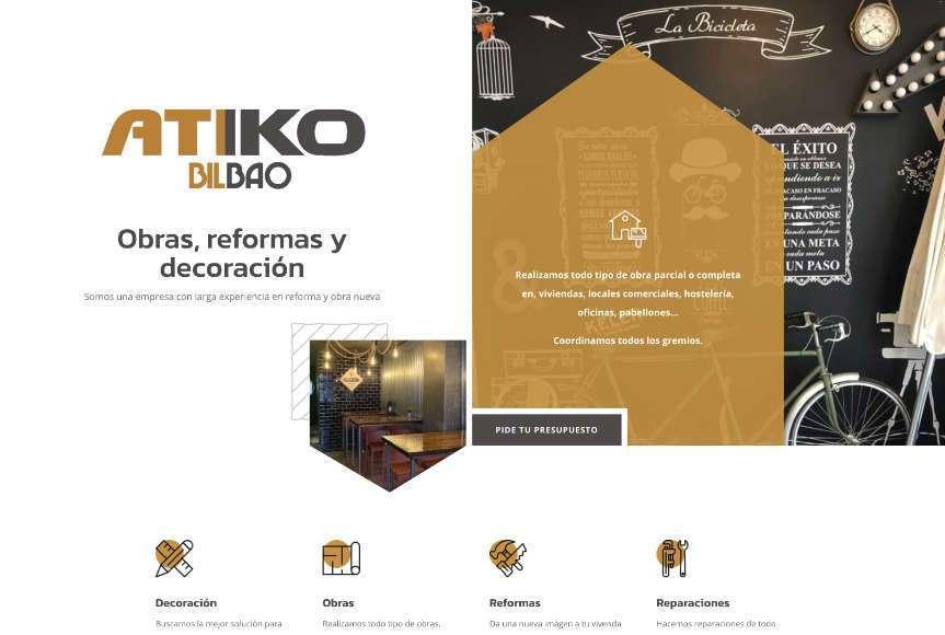 Diseño Web Atiko Bilbao
