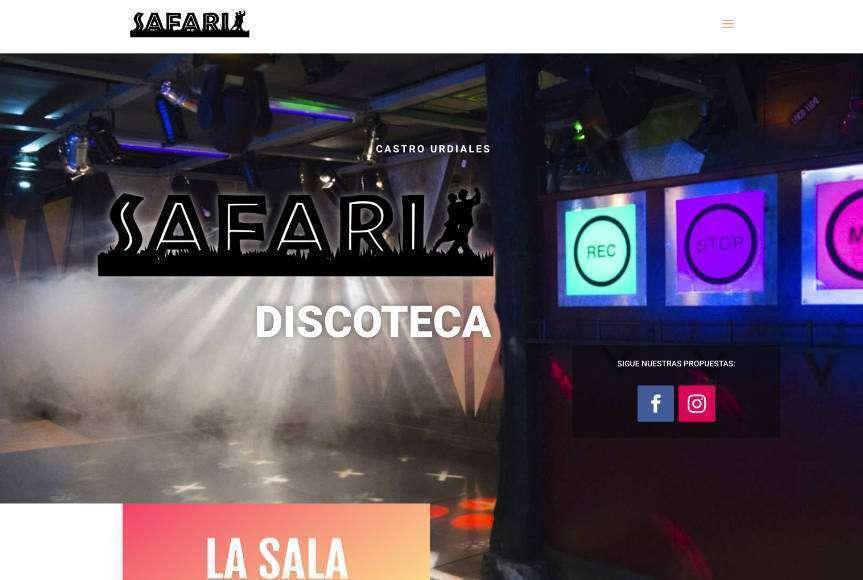 Web Discoteca Safari Castro Urdiales